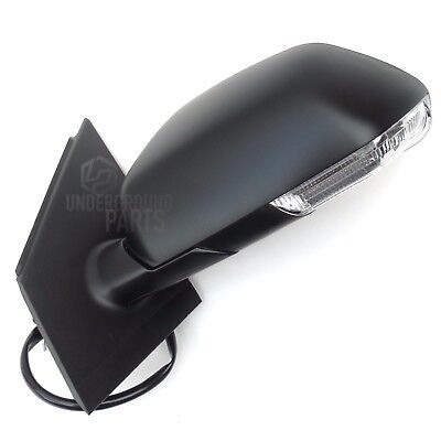 VW POLO 05 09 BLACK DOOR WING MIRROR LEFT NEARSIDE PASSENGER SIDE CABLE MANUAL