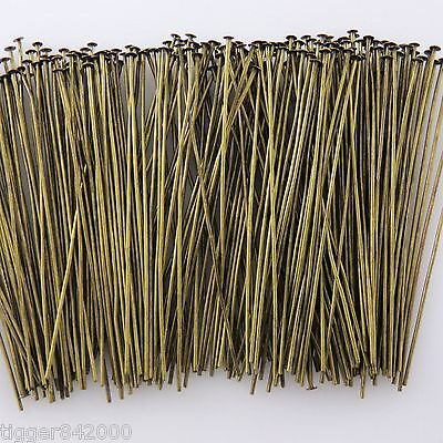 Bronze Alloy Metal Headpins / 2 Inch / 250 Pieces   23mm gauge  #0516