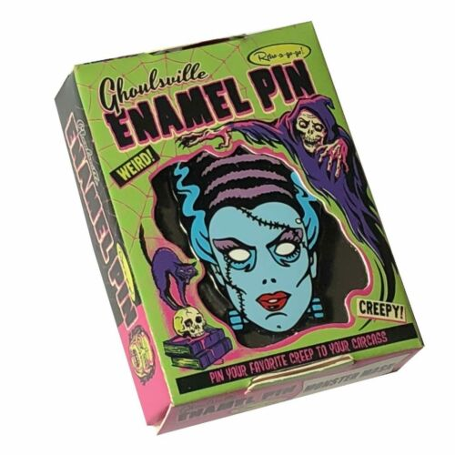 Frankenstein Nightmare Bride Enamel Retro Vintage Halloween Pendant Lapel Pin