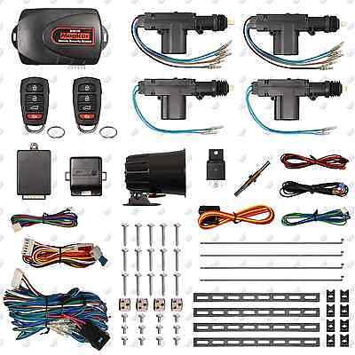 Remote Car Alarm Keyless Entry Security 2   4 Door Power Lock Actuator Motor Kit