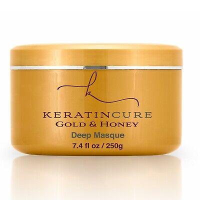 Keratin Cure Gold & Honig Tief Maske Aufbauend Trocken Beschädigt Entwirrt Haar Honig Haar Maske