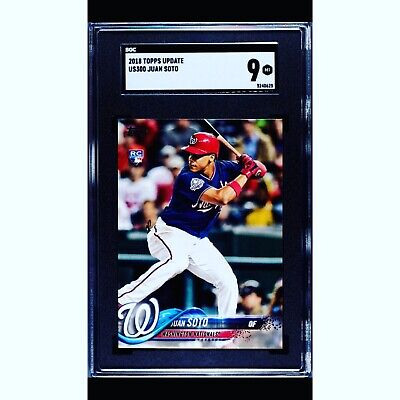 2018 Topps Update Juan Soto #US300 Card SGC 9 Mint RC Rookie COMP TO PSA