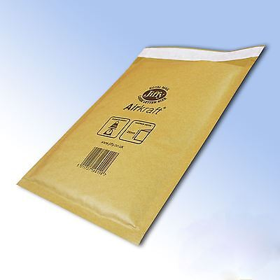 100 x Genuine Gold Jiffy Airkraft Bubble Padded Envelope Bag JL2 205 x 245mm