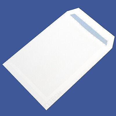 50 Plain White C5 / A5 Self Seal Envelopes 90GSM Postal Letter Mail Quality