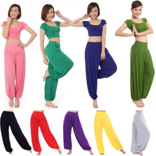 WomenS Harem Aladdin Pants Causal Gypsy Wide Leg Loose Dance Yoga Trousers M 2XL