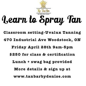 Learn to Spray Tan!