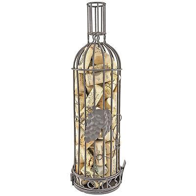 Cork Corral Wine Bottle Cork Holder Grapevine Design Bronze Color Inch Tall Bar Tools & Accessories