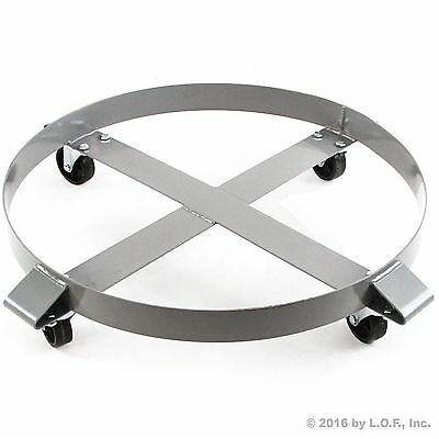 Drum Dolly 1000 lb 55 Gal w Swivel Casters Heavy Duty Steel Frame Non Tipping