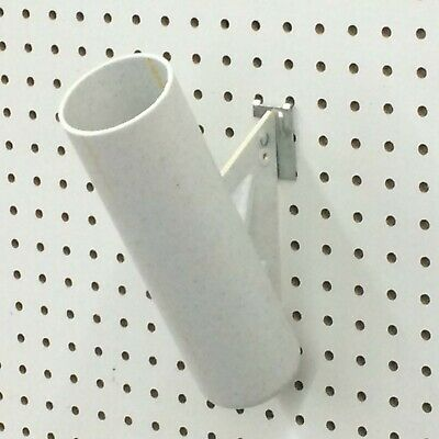 Wall Vase 3x1014 Pegboard-mount Displaying Silk Flower Uesd See Note