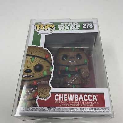 Funko Pop! Star Wars Chewbacca(Christmas Lights)278 Holiday With Protective Case