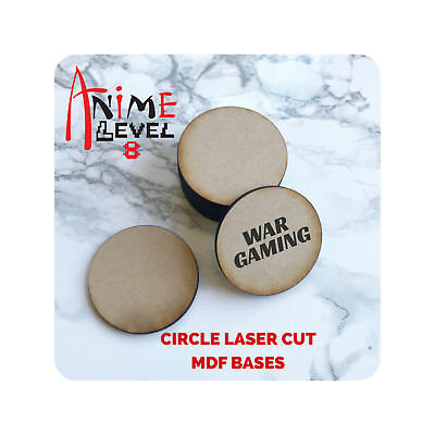 - MDF Wooden Bases Circle Round Multiple Sizes 3mm Thick Custom Laser Cut games