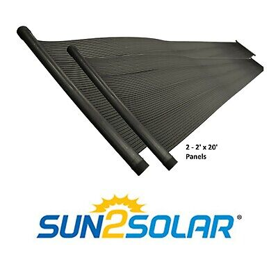 Sun2Solar Universal (2) 2' x 20' Swimming Pool Add-On Solar Heater Panels