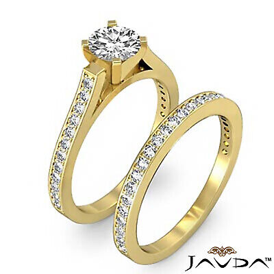 4 Prong Bridal Set Round Diamond Engagement Ring GIA F Color VS2 Clarity 1.57Ct 8