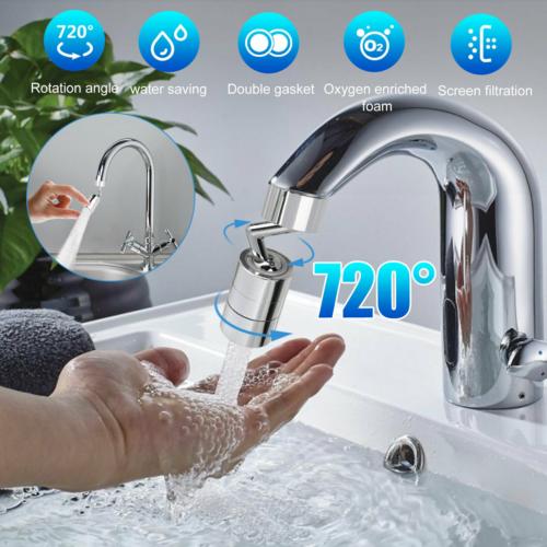 720°Rotate Splash Filter Faucet Kitchen Sink Tap Water Outlet Extender Universal Home & Garden