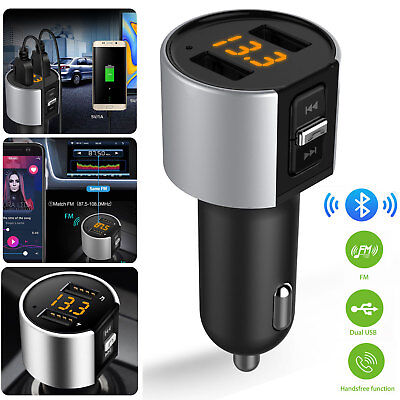 Car Cigarette Bluetooth FM Transmitter MP3 Player Radio Adapter Kit USB Charger
