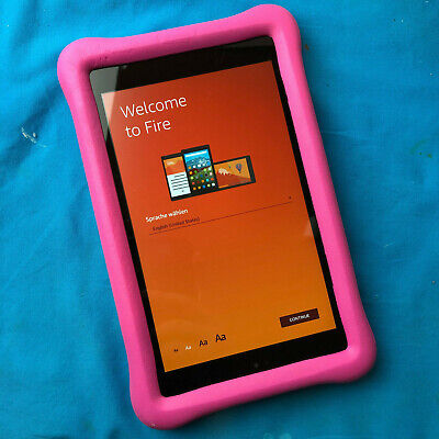 "Amazon Kindle Fire 8 Pink Kids Proof Children Edition 8"" HD Tablet 16  GB"