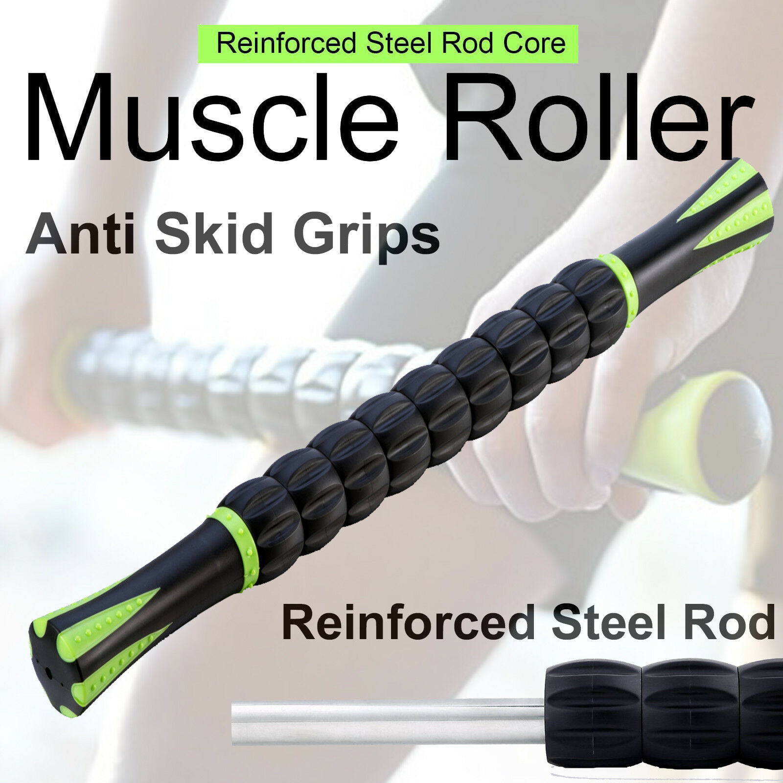 Muscle Roller Massage Stick for Fitness, Sports & Physical Therapy Recovery Health & Beauty