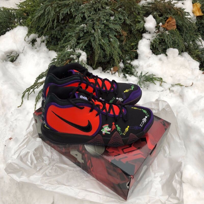 f879cab0a550 NIKE KYRIE IV 4 KYRIE 4 DOTD TV PE 1 Day Of The Dead Irving Orange ...