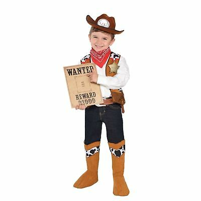 Kids Boys Girls Wild West Sheriff Cowboy Fancy Dress Book Day Accessory Kit 4-6 (Cowboy Costumes For Girls)