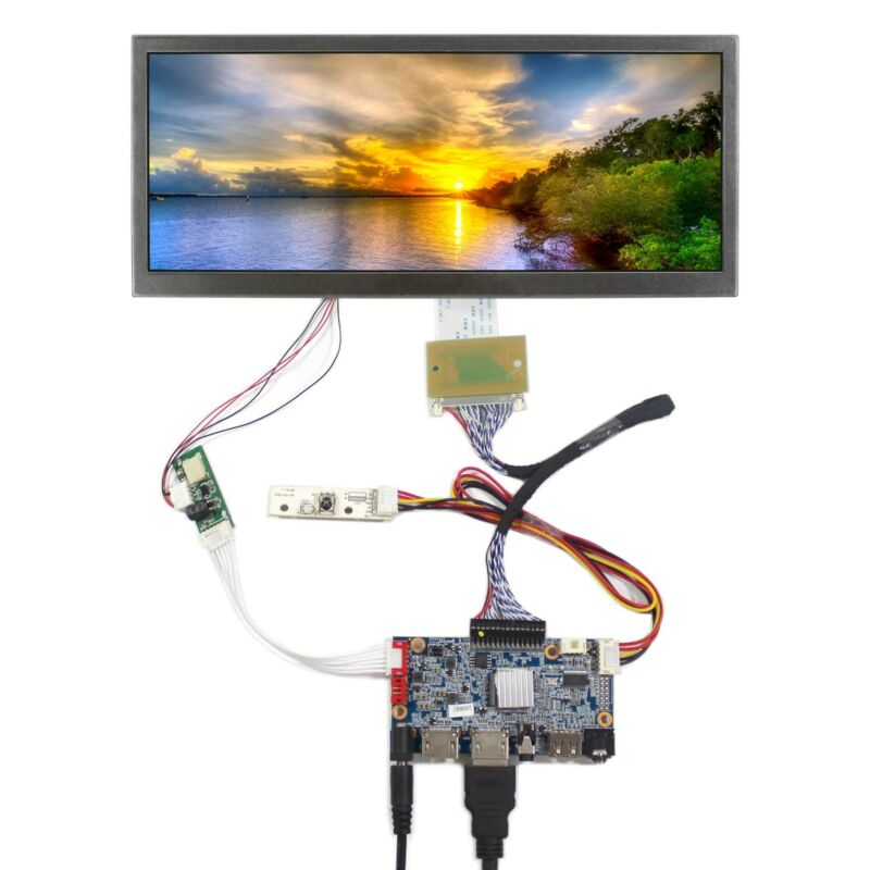 "USB HD MI LCD Controller Board 10.3"" HSD103KPW2-A10 1920X720 IPS LCD Screen"