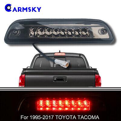 For 1995-2015 TOYOTA TACOMA Dual Row 3rd Brake Light Cargo Lamp Smoke Lens