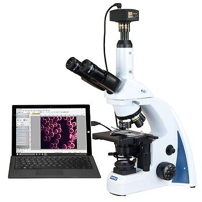 Omax 40x-3000x 14mp Digital Quintuple Infinity Plan Darkfield Kohler Microscope