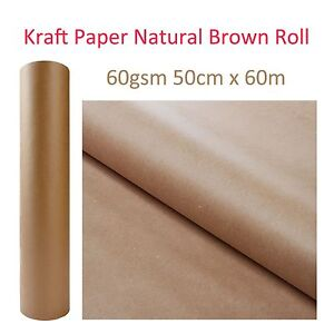 Kraft brown natural paper roll packaging packing craft for Brown craft paper rolls
