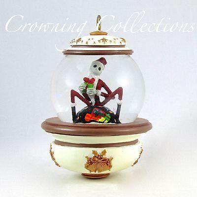 Disney Santa Jack Skellington Snow Globe Ornament The Nightmare Before Christmas