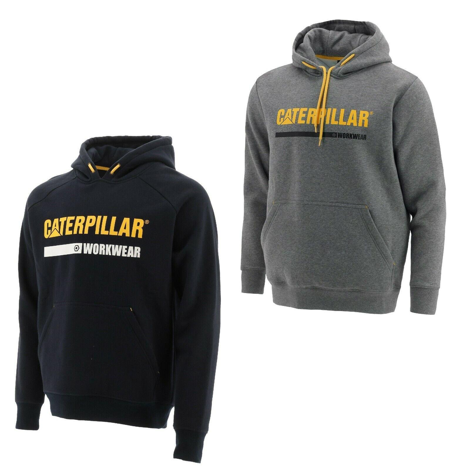 CAT Caterpillar Logo Panel Sweatshirt Hoodie Mens Durable Work Jumper Fleece