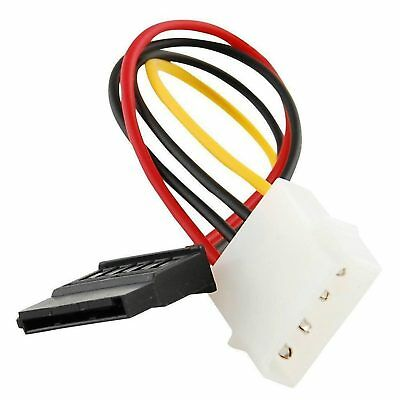 Molex zu SATA Power Adapter Kabel 4 Pin zu 15 Pin für HDD Festplatte Neu 4 Power-adapter-kabel