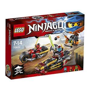 2x LEGO Ninjago 70733 + 70737 Titanroboter + Donnerbike