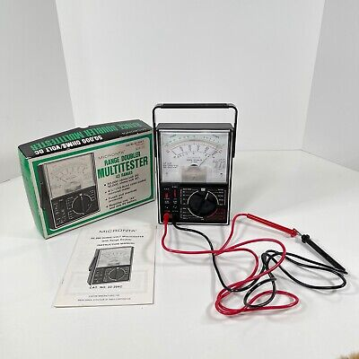 Vtg Micronta Range Doubler Multitester 43 Ranges 50000 Ohmsvolt Dc 22-204 C