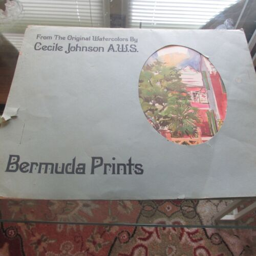 2 Bermuda Prints By Cecile Johnson From The Original Watercolors