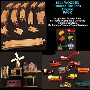 57pc WOODEN  Thomas The Tank Engine  PACK Usher Bunbury Area Preview
