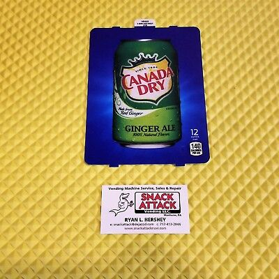 Dixie Narco 501e 276hvv Soda Vending Machine Canada Dry 12oz Can Vend Label