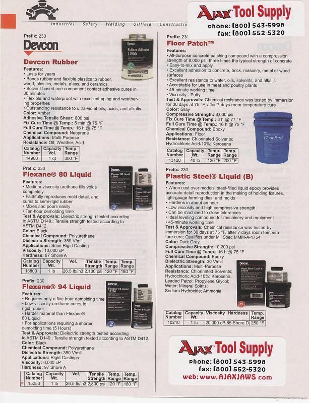 DEVCON FLEXANE 94 Liquid Polyurethane Rubber #15250