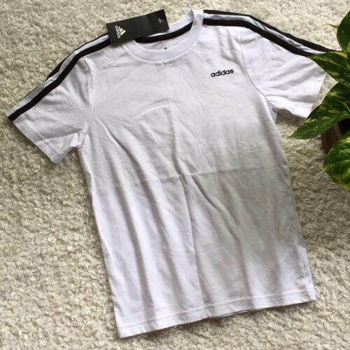 NWT ADIDAS Boys Kids Youth Shirt White & Black short sleeve