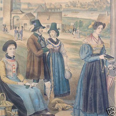 2/6 München kolorierte Druckgrafik Kupferstich Königreich Bayern 8 Kreisen ~1836