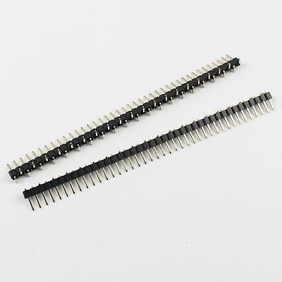100pcs 2mm Pitch 40 Pin Male Single Row Smt Pin Header Strip