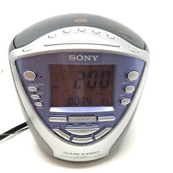 Sony Dream Machine Alarm Clock Radio CD Player ICF-CD853v Fully Tested Working
