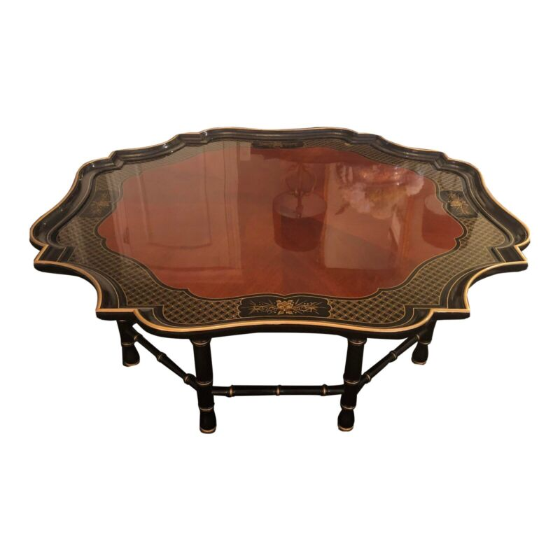 Chinoiserie Style Coffee Cocktail Table By Kindel Furniture