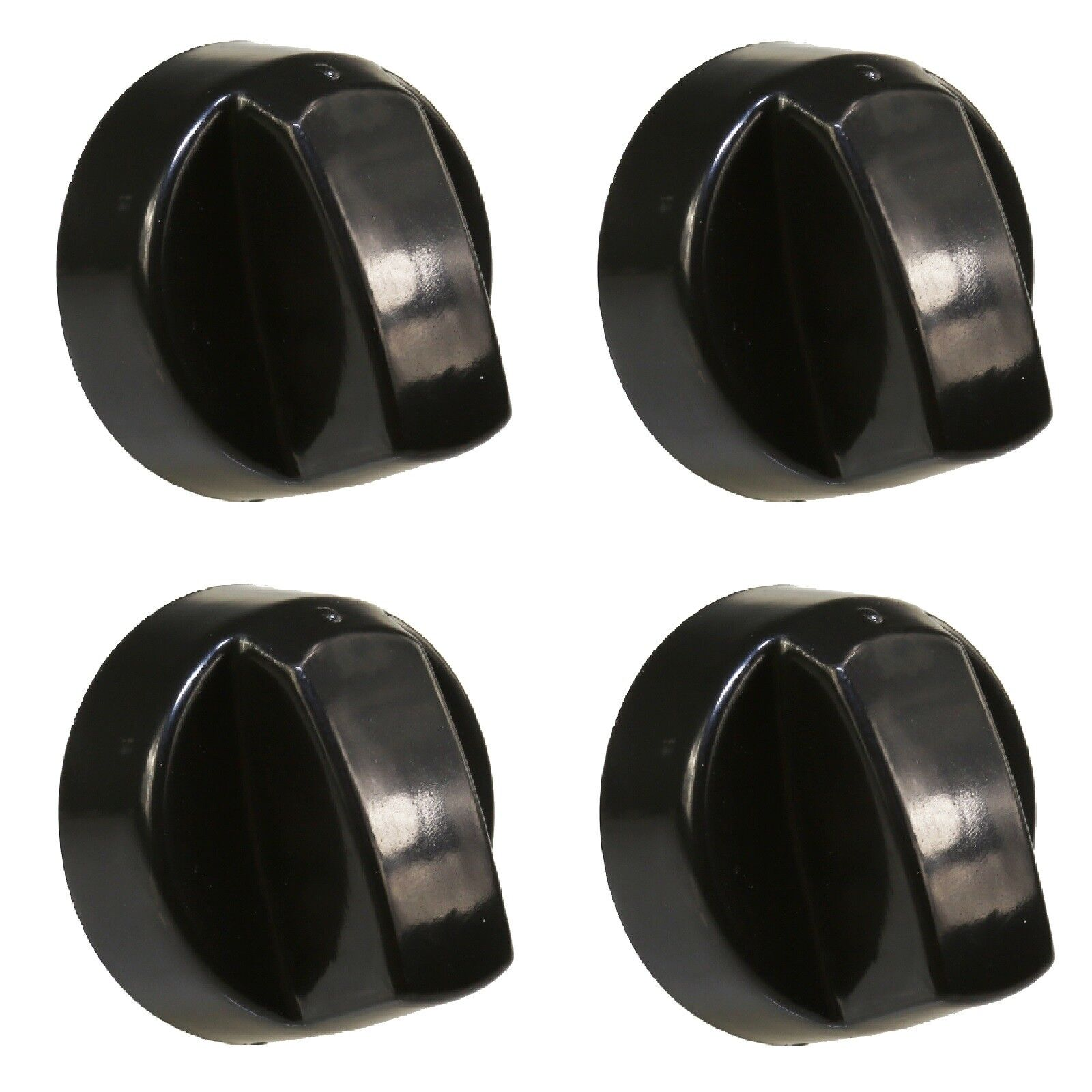 4 x HOTPOINT Black Oven Cooker Hob Flame Burner Hotplate Control Switch Knobs
