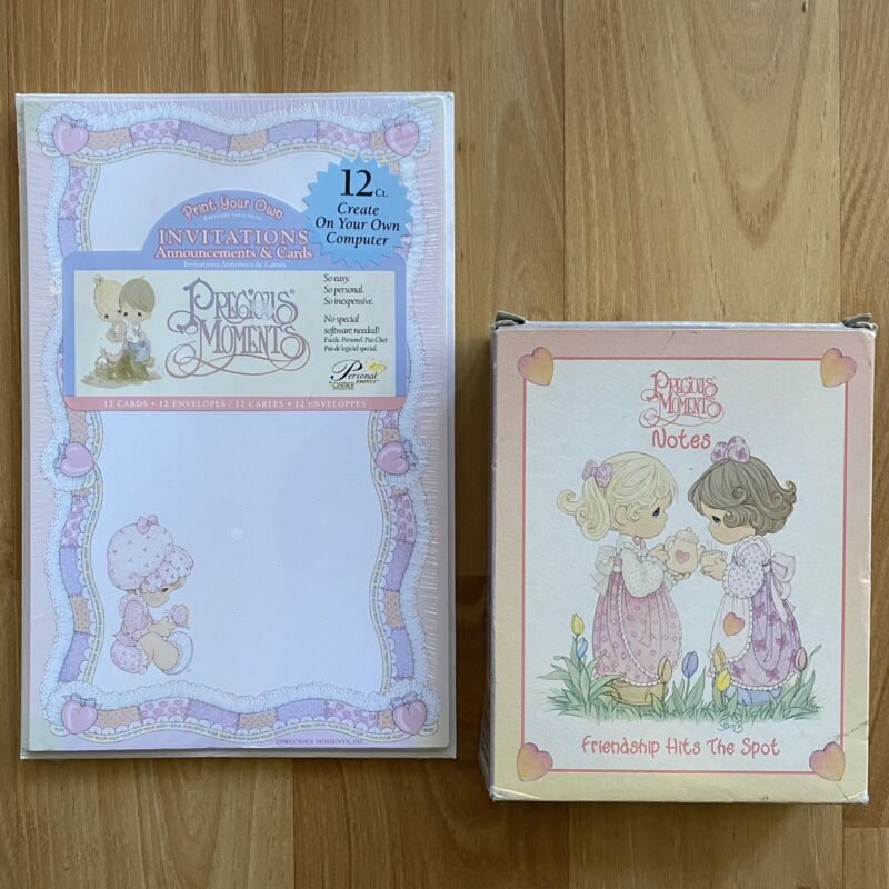 Precious Moments - Print Your Own Invitations, Announcements & Cards & Notes VTG