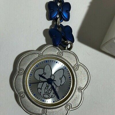 Vintage RARE Disney MINNIE Fob Keychain Pocket Watch - Japan