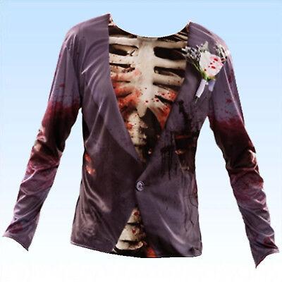 Blutiger Zombie Horror T-Shirt Gr. 52 (M/L) Funshirt Horrorshirt Shirt Halloween