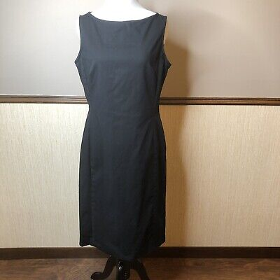 Lauren Ralph Lauren Sz 6 Black Sleeveless Sheath Dress Career Professional