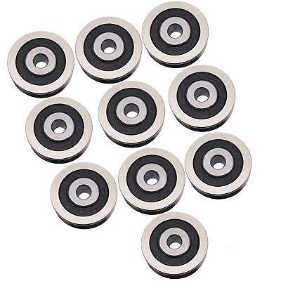 Us Stock 10pcs 630vv V Groove Sealed Ball Bearings Vgroove Bearing 6 X 30 X 9mm