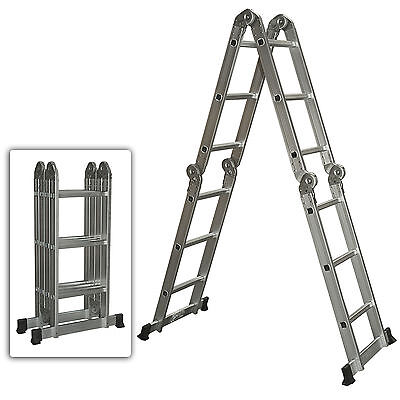 Multi Consider Aluminum Ladder Folding Step Ladder Extendable Heavy Allegiance