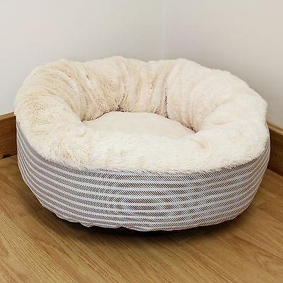 Super Cosy Warm Washable Round Cat/Kitten Bed Fleece/Plush/Soft/Donut/Small/Snug