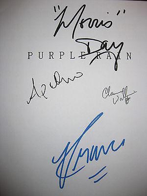 Purple Rain Signed Movie Script X4 Prince Morris Day Apollonia Kotero reprint